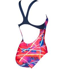 arena Light Beams Swim Pro Back Traje de baño de una pieza Mujer, navy/multi